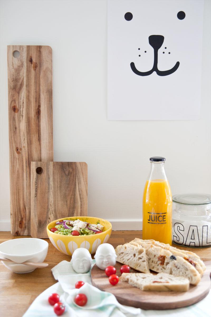 Lunsj hos Frøken Rosa og en deilig oppskrift på pastasalat og foccacia